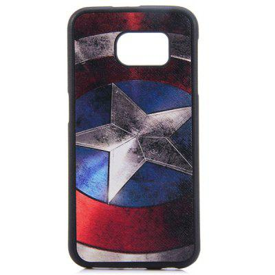 TPU Material Captain American Shield Pattern Back Cover Case for Samsung Galaxy S6 G9200