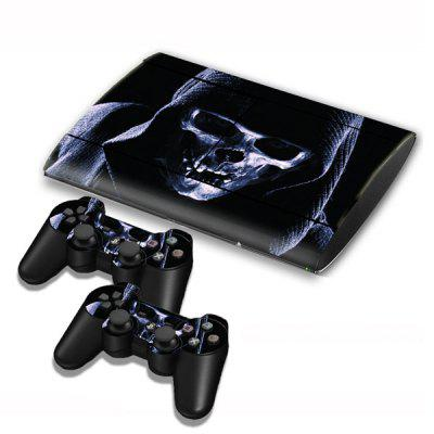Skull Style Game Console Gamepad Controller Stickers Skin for PS3 Slim 4000
