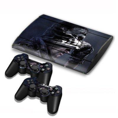 Call of Duty Ghosts Style Game Console Gamepad Controller Stickers Skin for PS3 Slim 4000