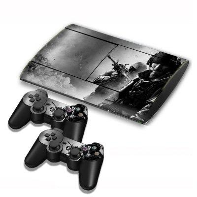 Call of Duty Style Game Console Gamepad Controller Stickers Skin for PS3 Slim 4000
