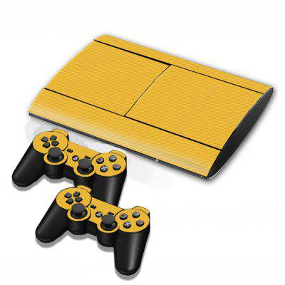 Game Console Gamepad Controller Protector 3D Carbon Fiber Stickers Skin for PS3 Slim 4000