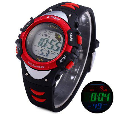 Lasika K - sport F60 Sports Watch LED Backlight Round Dial Rubber Wrist Band