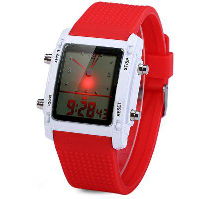 Double Time LED Sports Watch Date Day Function Wristwatch ...