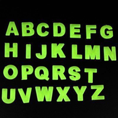 Buy NEON GREEN 26pcs English Letter Design Luminous Wall Decal Sticker for $2.27 in GearBest store