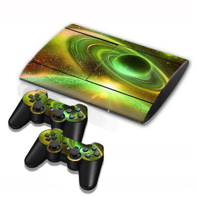 Cover Skin Stickers for PS3 Game Console and Controllers with Puzzling Interstellar Pattern