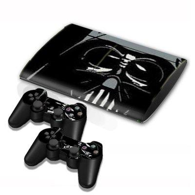 Cover Skin Stickers for PS3 Game Console and Controllers with Darth Vader Pattern
