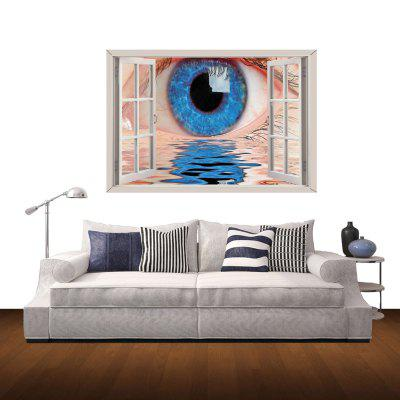 Blue Eyes Pattern Home Appliances Decoration 3D Wall Sticker