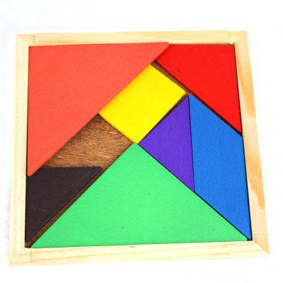 Educativo Legno Tangram Giocattolo Simple Jigsaw Puzzle for Animal Boat Human