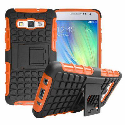 Stand Design TPU and PC Material Tire Pattern Protective Back Cover Case for Samsung Galaxy A3 A3000