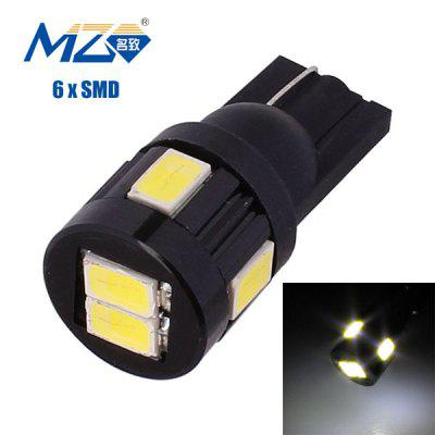 MZ T10 3W 144 Lumens 6 x SMD 5630 LED White Light Car Lamp