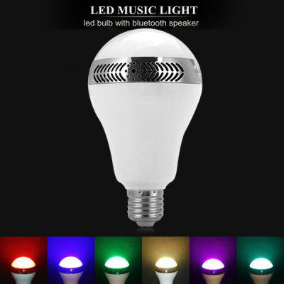 Intelligent Wireless Bluetooth Audio Output E27 Bubble Ball Bulb for iPhone 6S 6 5S Samsung