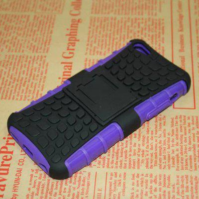 Stand Design TPU and PC Material Tire Pattern Protective Back Cover Case for iPhone 5C