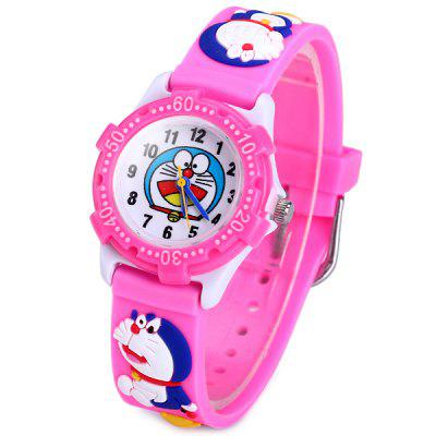 Doraemon Pattern Kids Quartz Watch Analog Wristwatch