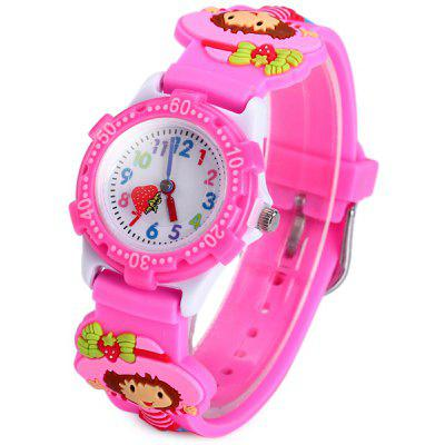 Girl Pattern Kids Quartz Watch Analog Wristwatch