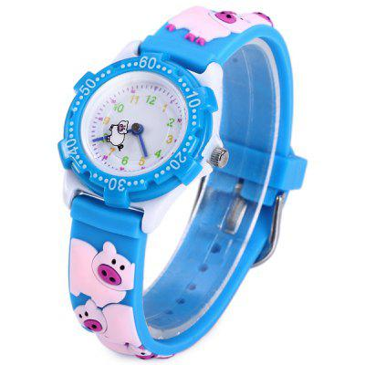 Pig Pattern Kids Quartz Watch Analog Wristwatch