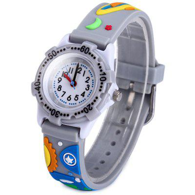 Outer Space Pattern Kids Quartz Watch Analog Wristwatch