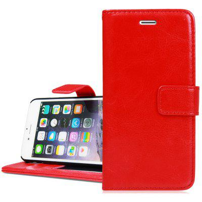 Crazy Horse Texture Style Cover Case with Photo Frame Credit Card Holder Stand for iPhone 6  -  4.7 inches