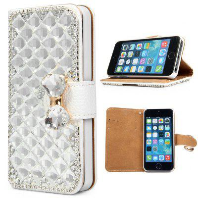 PU and PC Material Diamond Design Protective Cover Case for iPhone SE 5S