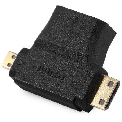 Linoya HDMI Female to Micro Mini HDMI Adapter Support 1080P for Projector MP5