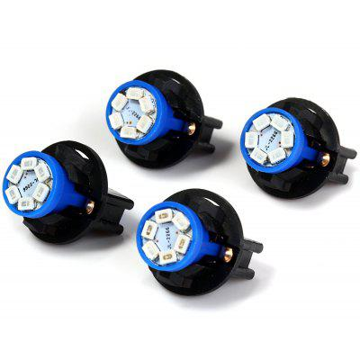 4pcs T10 SMD 1210 6 LEDs Twist Socket Instrument Panel Dash Lamp with Holder  -  Blue Light