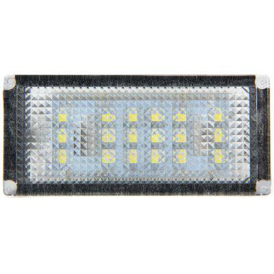 JHBK035 2pcs 12V Number License Plate Lamp with 18 LEDs for BMW E46 2D 04  -  06  -  White Light