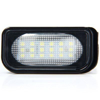 JHBK038 2pcs 12V Number License Plate Lamp with 18 LEDs for Benz W203 4D Sedan  -  White Light