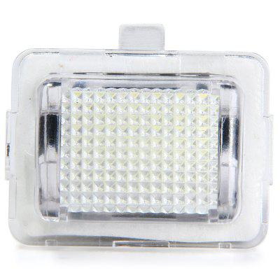 JHBK040 2pcs 12V Number License Plate Lamp with 18 LEDs for Benz W204 C207 W211   -  White Light