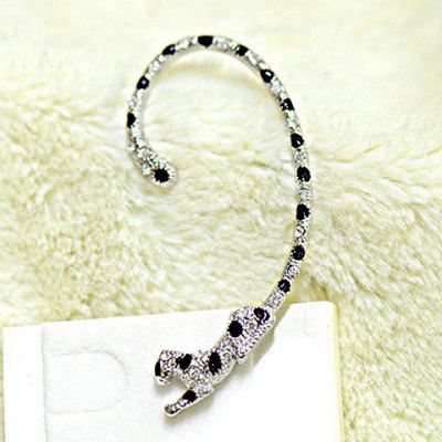 ONE PIECE Alloy Leopard Rhinestone Decorated Ear Cuff