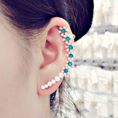 ONE PIECE Alloy Floral Rhinestone Decorated Ear Cuff