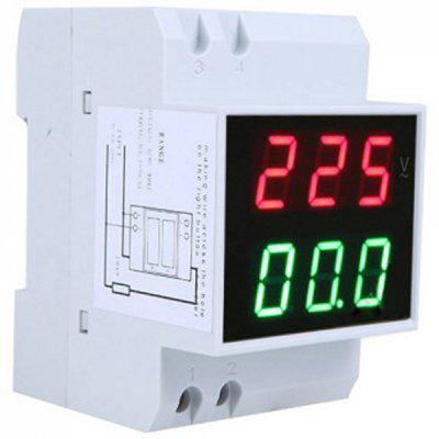 Wide Measurement Range Dual Display Digital Din - Rail Current Meter Voltmeter
