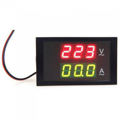 Dual LED Display Digital Din - Rail Current Meter Voltmeter