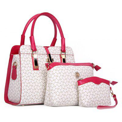 Elegant Print and Hasp Design Women's Tote Bag