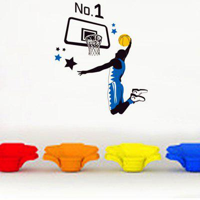 Slam Dunk Sports Pattern Home Appliances Decoration Wall Sticker