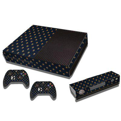 Protective Game Player and Controller Skin Sticker with Flower Pattern for Xbox One