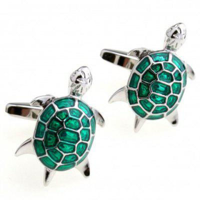 Pair of High Quality Green Animal Shape Men's Cufflinks