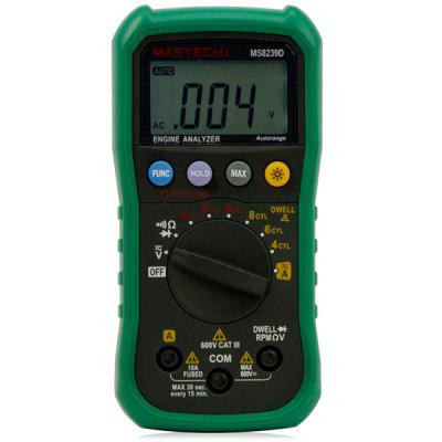 MASTECH MS8239D Digital Multimeter DMM Volt Current Resistance Dwell Tach Tester