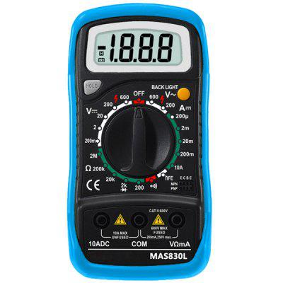 MAS830L Handheld Digital Multimeter DMM 2000 Counts Data Holding with Fuse Protection