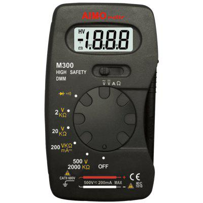 M300 Digital Multimeter High Safety 2000 Counts DMM LCD Display Diode Continuity Test