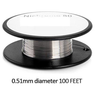 0.51mm Diameter 100 Feet Nichrome 80 Resistance Wire Roll E - cigarette Coils for Atomizers DIY