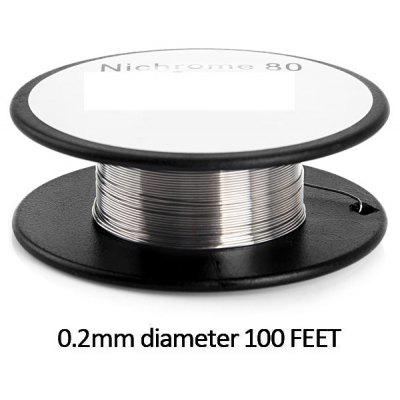0.2mm Diameter 100 Feet Nichrome 80 Resistance Wire Roll