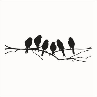 Birds Pattern Wall Stickers for Bedrooms Home Appliances Decoration