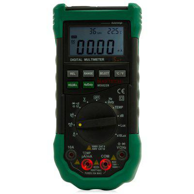 MS8229 5 - in - 1 Digital Multimeter Auto - Ranging Temperature Humidity Noise Illumination Tester