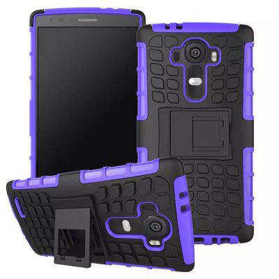Design de design TPU e PC Material Tire Pattern Protective Back Cover Case para LG G4