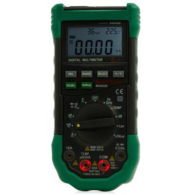 Buy GREEN MS8229 5 in 1 Digital Multimeter Auto Ranging Temperature Humidity Noise Illumination Tester for $69.58 in GearBest store