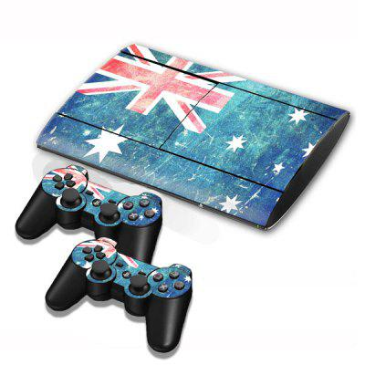 Cover Skin Stickers for PS3 Game Console and Controllers with New Zealand Flag Pattern