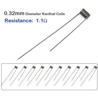 10Stk / Pack 0,32mm Durchmesser 1,1 Ohm Kanthal Widerstand Draht RBA ...