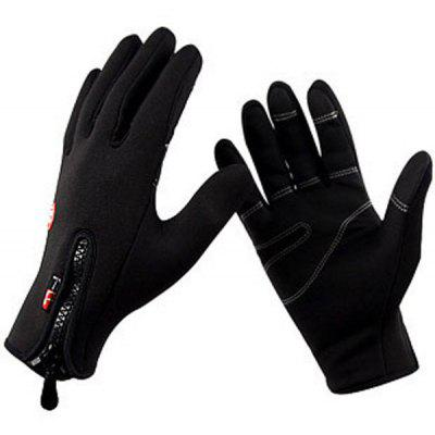 Gearbest Paired FLL Winter Windproof Full-finger Cycling Gloves  -  XL  BLACK