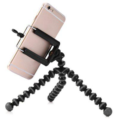 Mini Octopus Style Mobile Phone Stand Flexible TripodStands &amp; Holders<br>Mini Octopus Style Mobile Phone Stand Flexible Tripod<br><br>Mainly Compatible with: Blackberry, Universal, Sony, Samsung S6, SAMSUNG, Nokia, iPhone 6 Plus, iPhone 6, iPhone 5, iPhone 4S, iPhone 4, HTC One M9, HTC<br>Material: Plastic<br>Package Contents: 1 x Smartphone Tripod Stand<br>Package size (L x W x H): 18.00 x 5.00 x 5.00 cm / 7.09 x 1.97 x 1.97 inches<br>Package weight: 0.0850 kg<br>Product size (L x W x H): 16.00 x 3.50 x 3.50 cm / 6.3 x 1.38 x 1.38 inches<br>Product weight: 0.0660 kg<br>Type: Stand