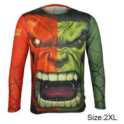 Arsuxeo Hulk Style Thermal Transfer Cycling Jersey