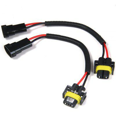 Buy BLACK 2pcs H8 H9 H11 Car Headlight Extension Connector Wiring Harness Socket Wire for $3.35 in GearBest store